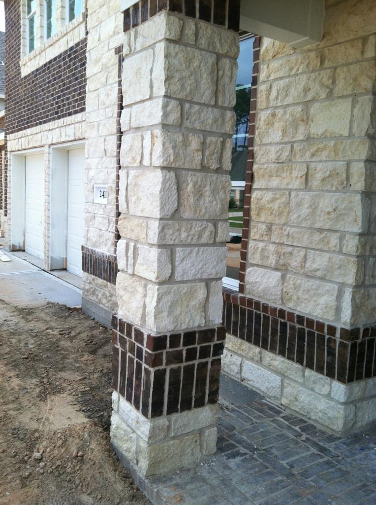 Marble Column Wall : Brick retaining wall concrete houston