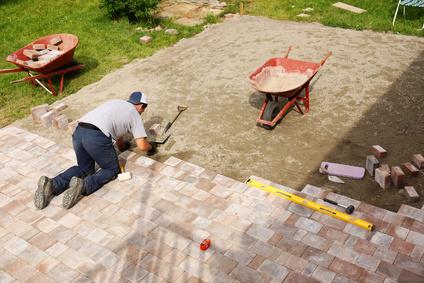 paver stone installation