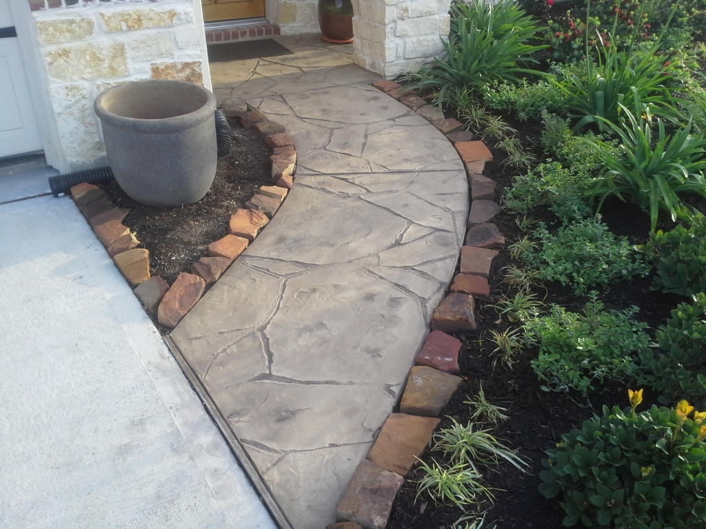 Pool Deck Stamped Concrete Stamped Patio Houston TX Stamped Concrete Pathway
