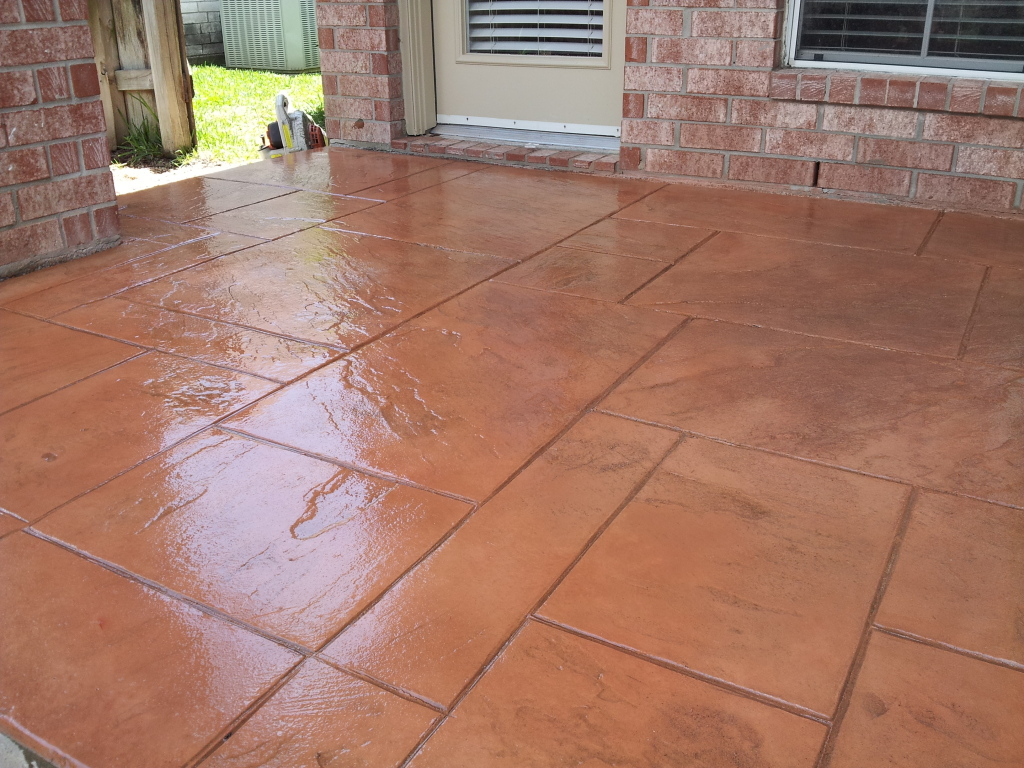 Outdoor Stamped Patios Concrete Pool Decking