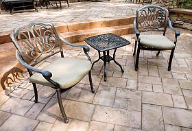 Houston stamped concrete patios