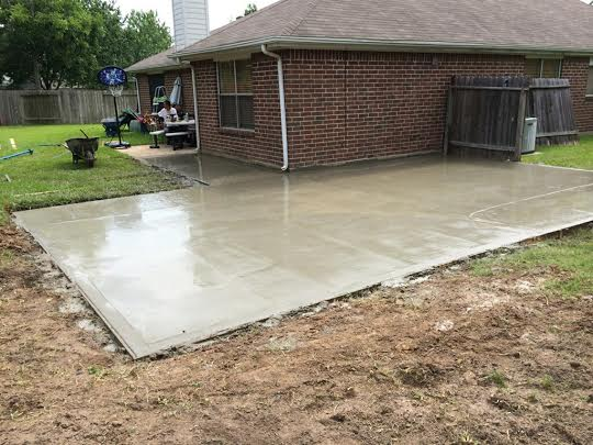 new concrete patios