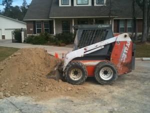 concrete foundation fill dirt