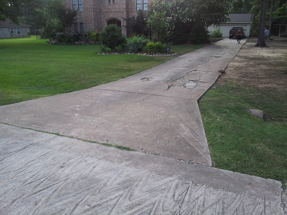 Concrete removal of old driveway for Removing concrete driveway