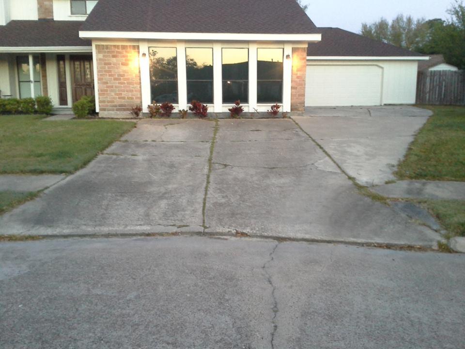 Concrete Driveway Crack Repair In Houston Tx