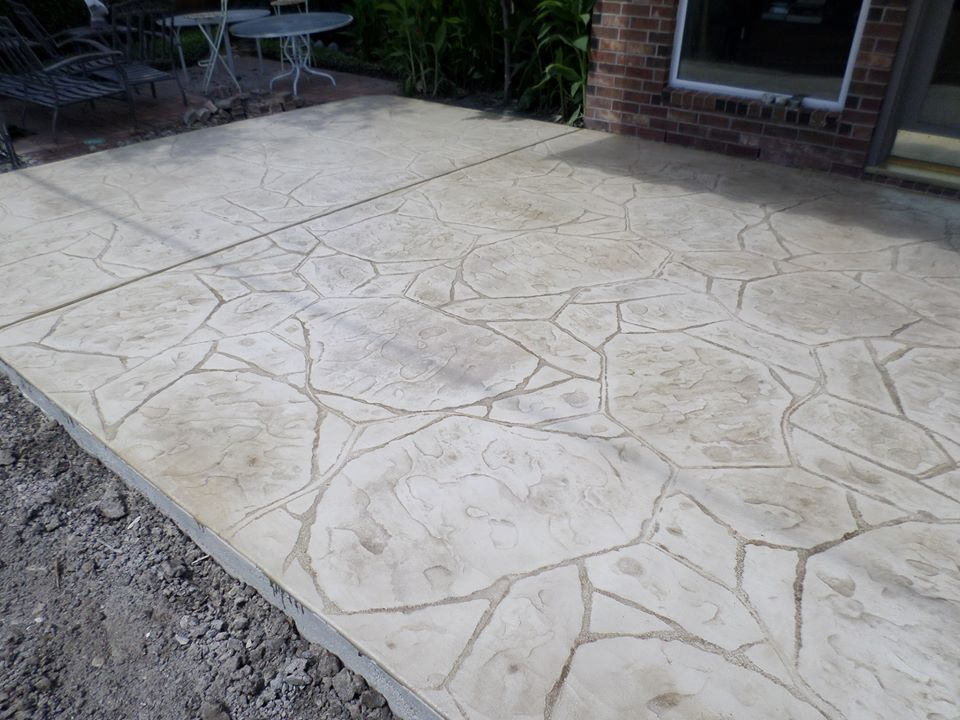 Tallerdeimaginacion Stamped Concrete Patio Designs Pics