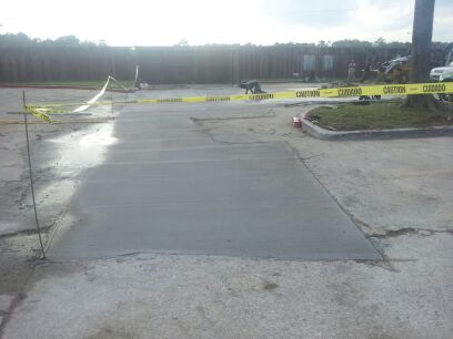 image of the repaired concrete parking area after work is done