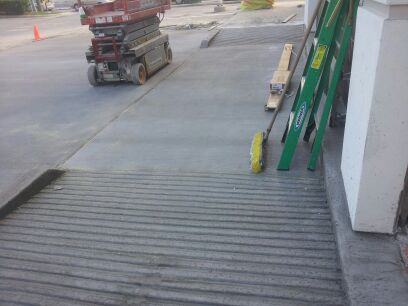 parking lot exterior accessible entrance ramps routes