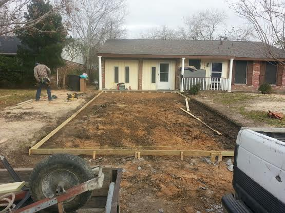 forming driveway