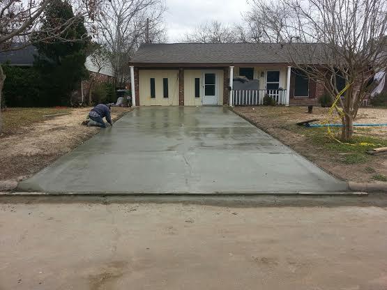 Concrete jobs completed portfolio images for How to pour a concrete driveway