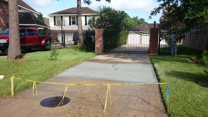 concrete driveways Houston