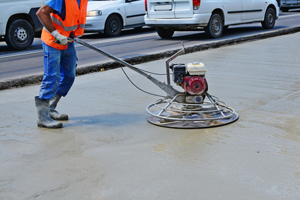 concrete finishing work